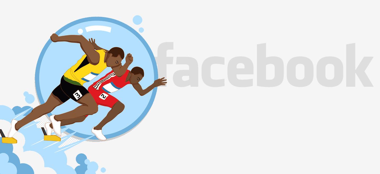 Активность пользователей Facebook выросла почти на 50%